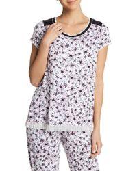 Kensie - Short Sleeve Print Sleep Top - Lyst