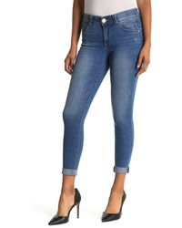 Democracy Ab Technology Cuffed Ankle Skinny Jeans - Blue