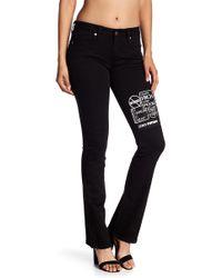Genetic Denim Black Bootcut Patch Jeans
