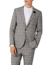 TOPMAN - Skinny Fit Check Suit Jacket - Lyst