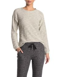 Marc New York Boucle Crew Neck Pullover - White