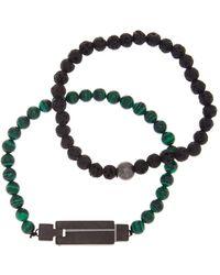 Steve Madden - Steel Beaded Bracelet - Set Of 2 - Lyst