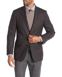 Brooks Brothers - Brown Plaid Two Button Notch Lapel Regent Fit Wool Blazer - Lyst