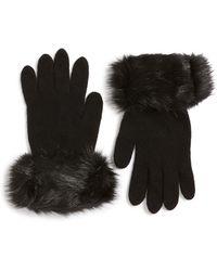 Parkhurst - Faux Fur Trim Gloves - Lyst