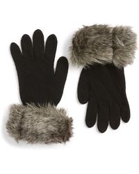 Parkhurst Faux Fur Trim Gloves - Multicolor