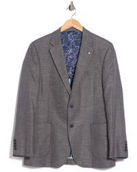 Nautica Notch Lapel Structured Weave Sport Coat - Grey