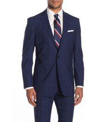 Brooks Brothers Navy Check Two Button Notch Lapel Regent Fit Suit Separates Jacket - Blue