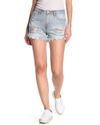 Articles of Society Meredith High Rise Distressed Shorts - Blue