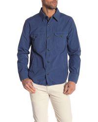 Save Khaki Solid Long Sleeve Regular Fit Shirt Jacket - Blue