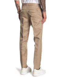 Valentino Solid Pleat Wool & Silk Blend Pants - Natural