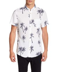 Sovereign Code - Kelso Patterned Short Sleeve Regular Fit Shirt - Lyst