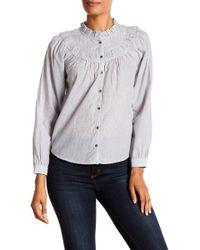 e56e8ed32dc6d La Vie Rebecca Taylor - Angelique Striped Shirt - Lyst