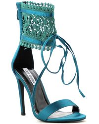e229fbbd7d1f Cape Robbin - Suzzy Lace Heels - Lyst