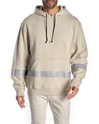 Hudson Jeans - Reflective Stripe Hooded Sweatshirt - Lyst