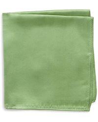 Nordstrom Satin Pocket Square - Green