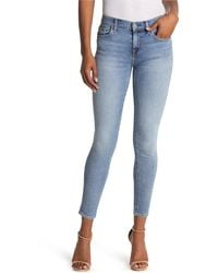 7 For All Mankind Luxe Vintage The Ankle Skinny Jeans - Blue