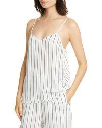 Tibi Anna Stripe Camisole - White