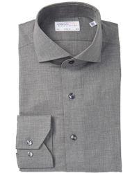 Lorenzo Uomo - Solid Heather Trim Fit Dress Shirt - Lyst