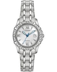 Citizen - Women's Diamond Quartz Stainless Bracelet Watch - 0.0053 Ctw - Lyst