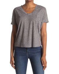 Heather by Bordeaux Speckle Pocket T-shirt - Gray