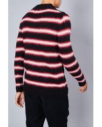 Native Youth Saknam Stripe Print Sweater - Black