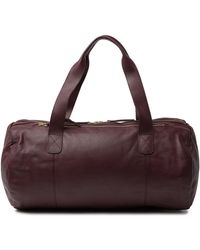 Herschel Supply Co. Sutton Leather Duffel Bag - Purple