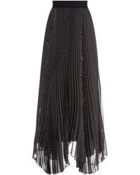 Alice + Olivia Katz Sunburst Pleated Maxi Skirt - Black