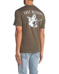 True Religion Buddha Print Crew Neck T-shirt - Green