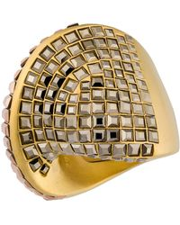 Swarovski - Gold Plated Metallic Colored Crystal Ring - Lyst
