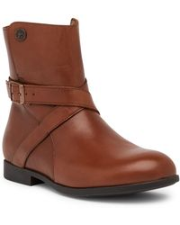 Birkenstock - Collins Leather Moto Boot - Discontinued - Lyst
