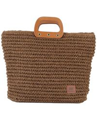 Most Wanted Usa Straw Tote Bag - Brown