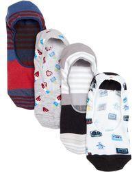 Original Penguin - No Show Socks - Pack Of 4 - Lyst