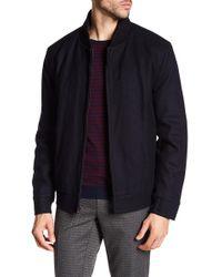 Andrew Marc - Barlow Front Zip Wool Blend Bomber Jacket - Lyst