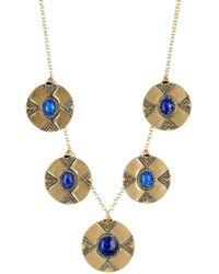 House of Harlow 1960 - Dorelia Coin Lapis Statement Necklace - Lyst