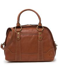 Frye Lucy Leather Domed Satchel - Brown