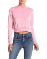 Love, Fire - Washed Cropped Sweatshirt - Lyst