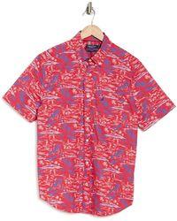 Nautica Short Sleeve Poplin Print Shirt - Multicolor