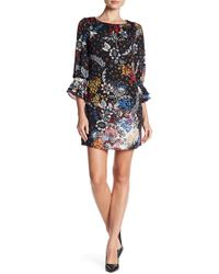Laundry by Shelli Segal - A-line Printed Long Sleeve Dress - Lyst