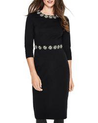 Boden Matilda Crystal Embellished Dress - Black