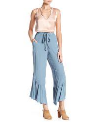 June & Hudson - Ruffle Hem Woven Pants - Lyst