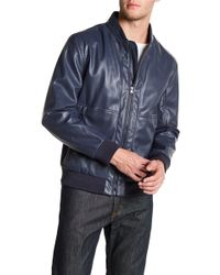Andrew Marc - Beekman Faux Leather Bomber - Lyst