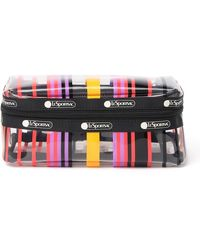 LeSportsac Clear Stripe Print Cosmetic Bag - Multicolor