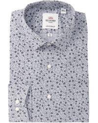 Ben Sherman - Floral Printed Slim Fit Dress Shirt - Lyst