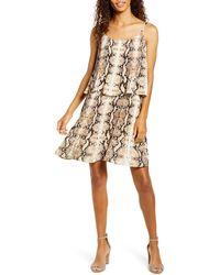 Gibson X City Safari Tara Pleated Popover Dress - Brown