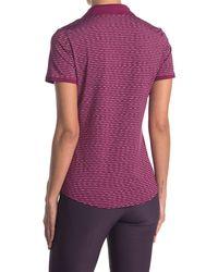 adidas Originals Ultimate 365 Space Dye Stripe Polo Shirt - Purple
