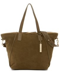Vince Camuto - Alcia Suede & Leather Tote - Lyst