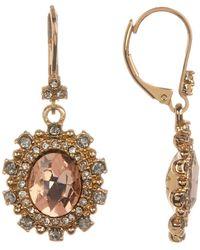Marchesa | Crystal Halo Drop Earrings | Lyst