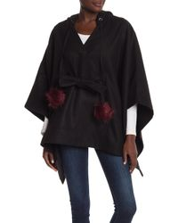 Laundry by Shelli Segal - Tie Front Poncho - Lyst