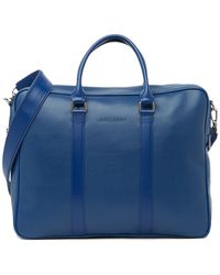Longchamp Veau Foulonne Small Briefcase - Blue