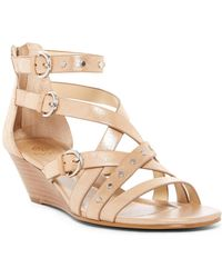Isola - Petra Strappy Studded Wedge Sandal - Lyst